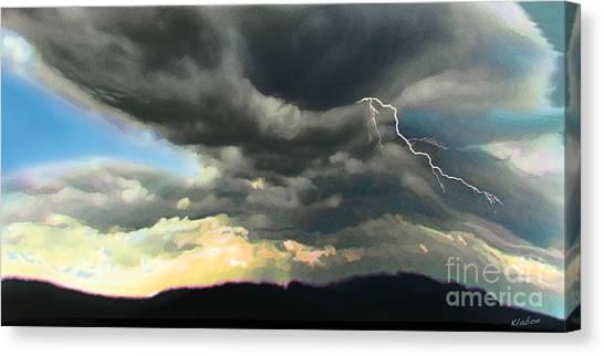 Passing Storm Canvas Print by David Klaboe