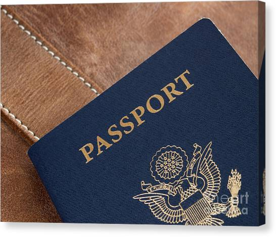 Immigration Canvas Print - Passport by Blink Images