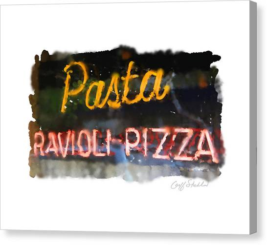 Pasta Canvas Print by Geoff Strehlow