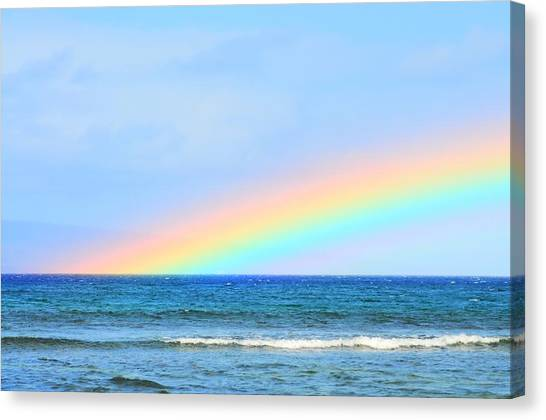 Pastel Rainbow Canvas Print