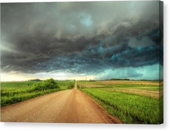 Path To Chaos Canvas Print by Evan Ludes