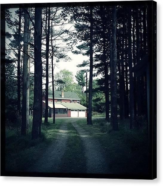 Farmhouse Canvas Print - Path To Farm House by Jeff Koromi
