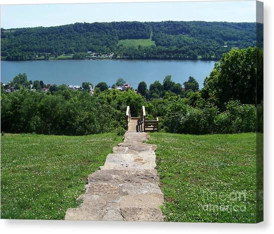 Path To Rankin House Canvas Print