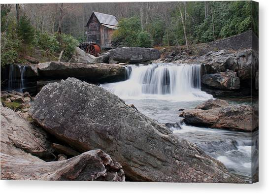 Water Falls Canvas Print - Patiently Flowing by Wayne Stacy
