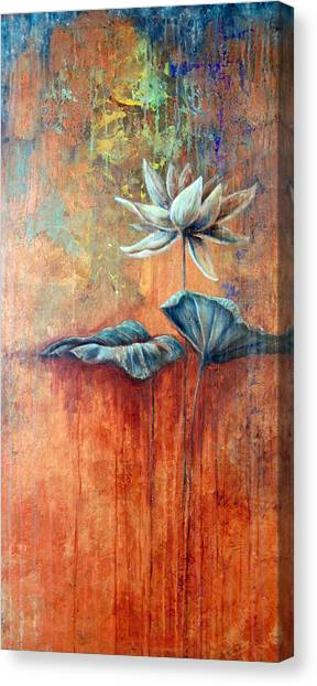 Patina Lotus Canvas Print