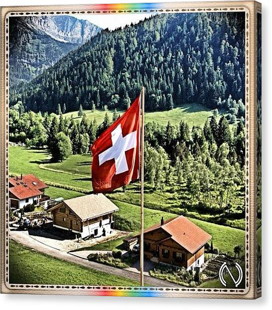 Swiss Canvas Print - Patriotismo Sinbiótico. Just A by Mr Etso