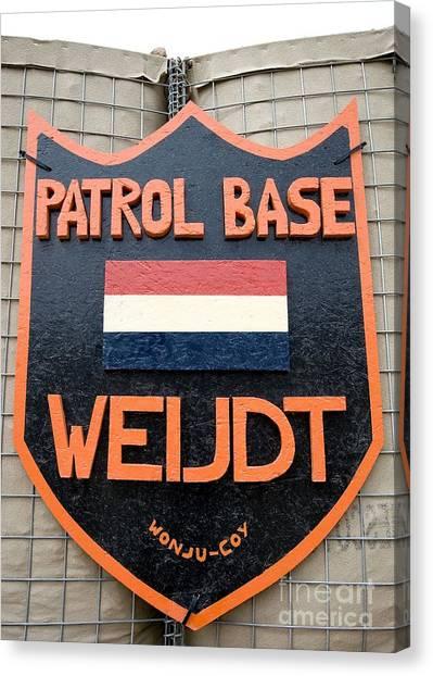Patrol Base Weijdt Canvas Print by Unknown
