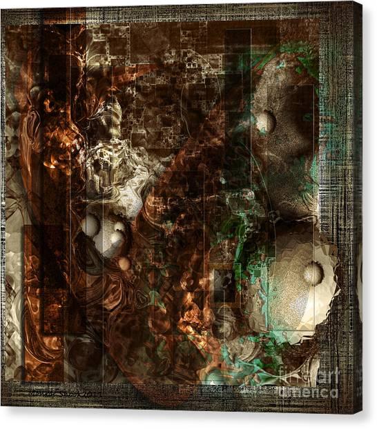 Pattern Down - Brown Canvas Print by Monroe Snook
