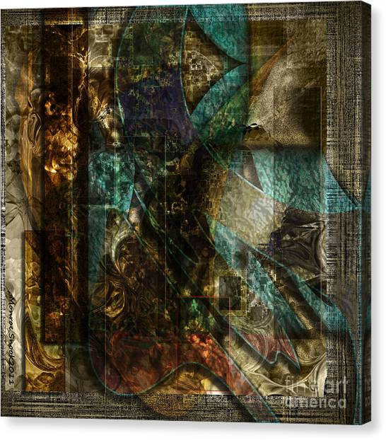 Pattern Down Canvas Print by Monroe Snook