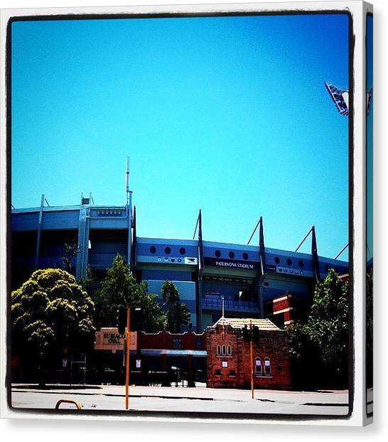 Stadiums Canvas Print - #pattersonoval #subiaco #subi by Kirk Roberts
