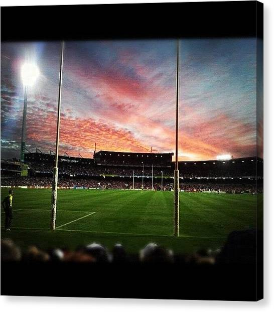 Stadiums Canvas Print - #pattersonstadium #afl #geelong by Kirk Roberts