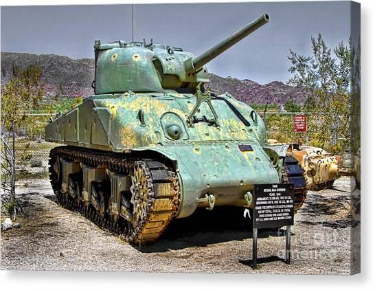 Patton M4 Sherman Canvas Print