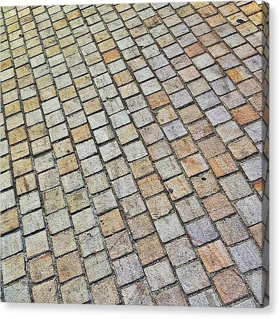 Equipment Canvas Print - #pavement #pavers #street #vintage #old by Val Lao