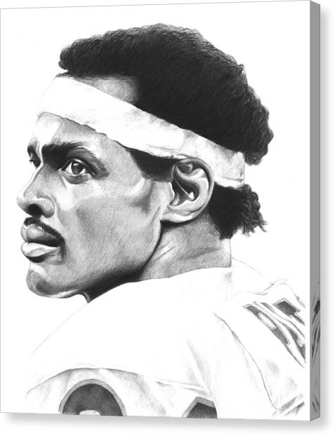 Walter Payton Canvas Print - Payton For Real by Timmy Jackson