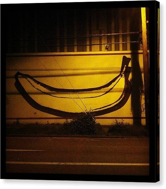 Bananas Canvas Print - #pdx #banana #boozin #art #fills #voids by Paul Dewald