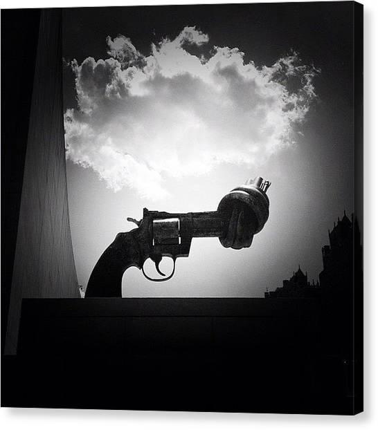 Gun Control Canvas Print - Peace - New York City by Vivienne Gucwa