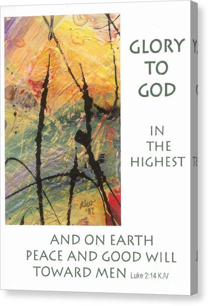 Peace And Goodwill Toward Men Canvas Print