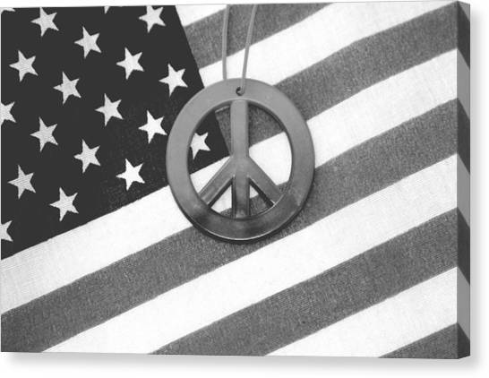 Peace And Patriotism Canvas Print