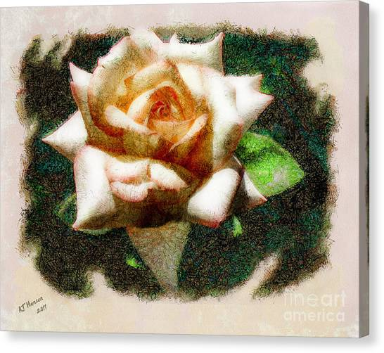 Van Goughs Ear Canvas Print - Peace Rose by Arne Hansen