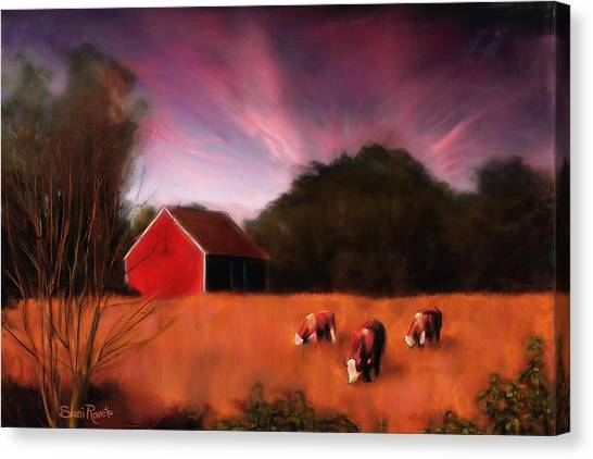 Peaceful Pasture Canvas Print by Suni Roveto