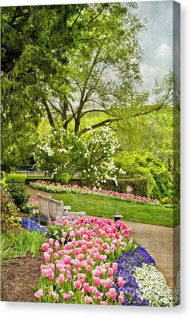 Peaceful Spring Park Canvas Print