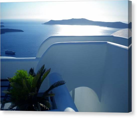 Peaceful Sunset Santorini Canvas Print