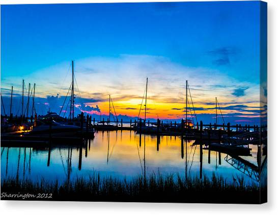 Peacefull Sunset Canvas Print