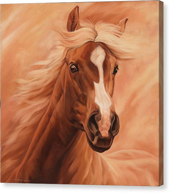 Equestrian Canvas Print - Peach by JQ Licensing