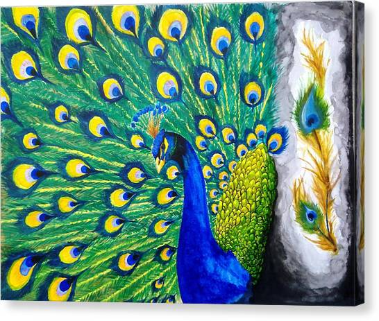 Peacock Canvas Print by Swapnil Sharma