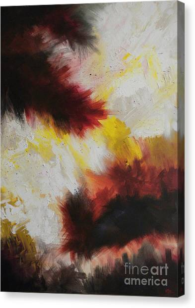 Canvas Print - Peanut Butter And Jelly Sandwich Exploding In Mid-air by Silvie Kendall