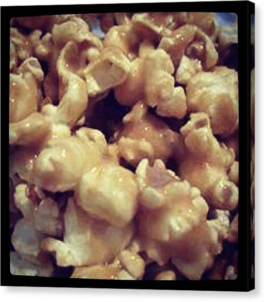 Popcorn Canvas Print - #peanutbutter #popcorn With #seasalt by Bryce Gruber