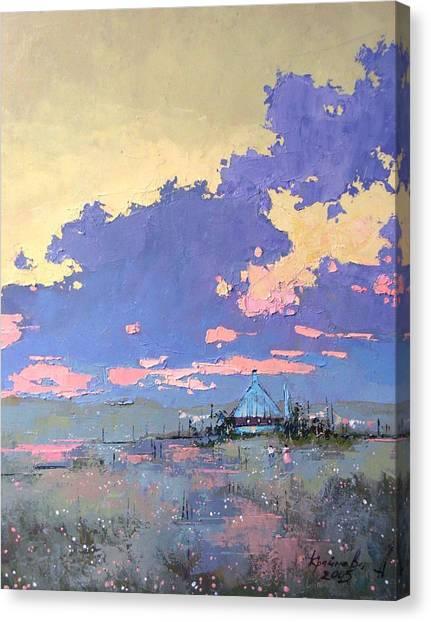 Pearl Morning Canvas Print