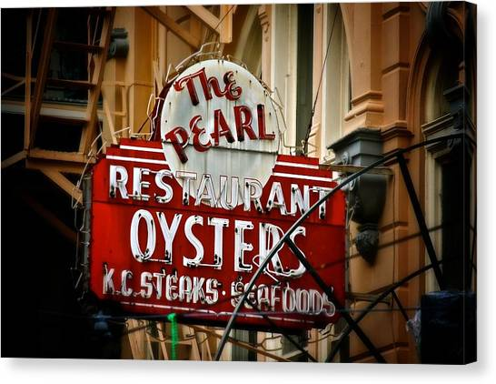 Pearl Restaurant Sign Canvas Print