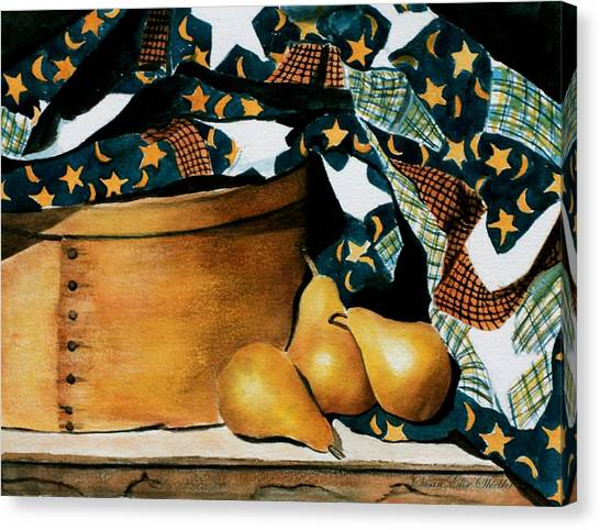 Pears And Stars Canvas Print