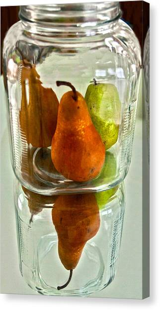 Pears In A Jar Canvas Print