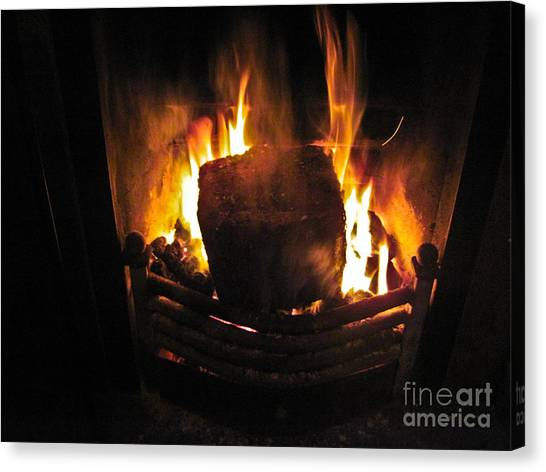 Peat Fire Canvas Print by Black Sun Forge