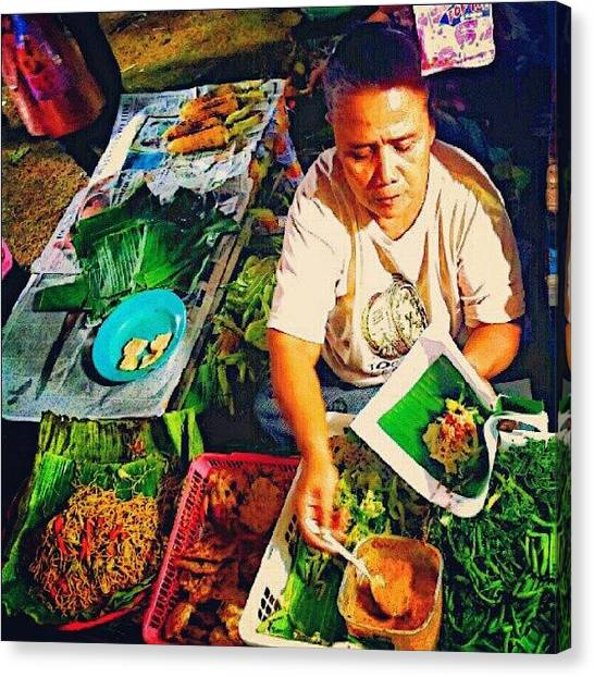 Spinach Canvas Print - Pecel A.k.a #vegetables_salad Served by Vika Klaretha Dyahsasanti