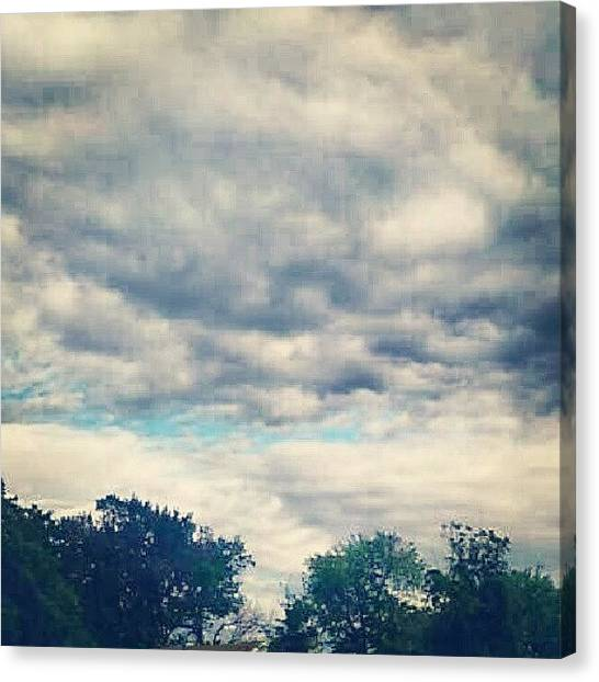 Outer Space Canvas Print - #peekingblue #cloudy #gorgeousclouds by Alien Alice