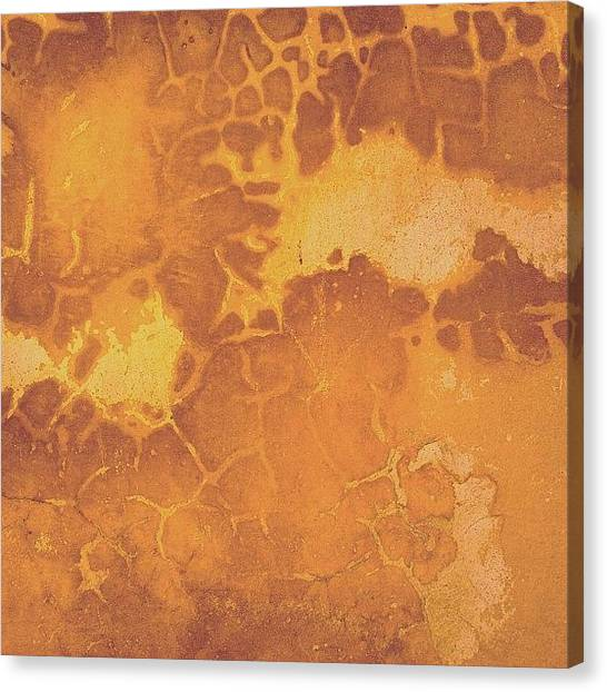 Patterns Canvas Print - Peeling Ochre Wall by Nic Squirrell