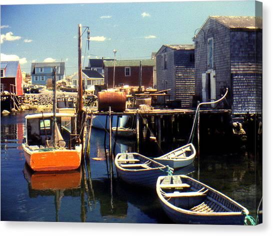 1972 Canvas Print - Peggys Cove Nova Scotia 1972 by Bruce Ritchie