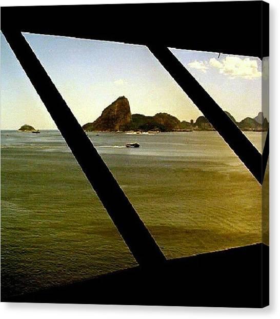 Mac Canvas Print - Pela Janela Do Mac #mac #niterói by Gogliardo Maragno
