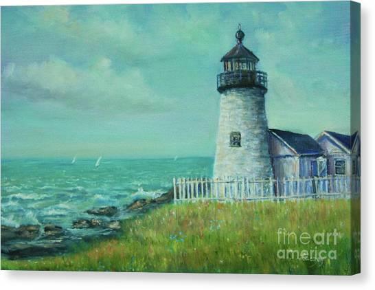 Pemaquid Point Lighthouse Canvas Print by Katalin Luczay