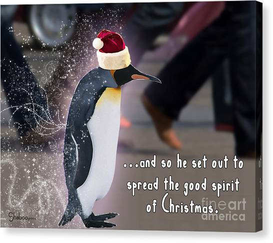 Penguin Holiday Canvas Print