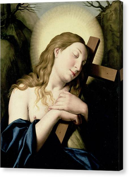 Biblical Canvas Print - Penitent Magdalene by Il Sassoferrato