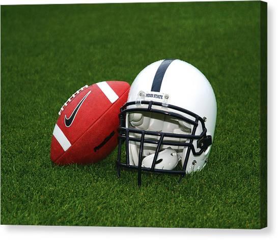 Ball State University Canvas Print - Penn State Football Helmet by Joe Rokita