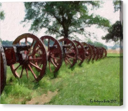 Pennsylvania's Confederate Cannon Canvas Print by Antonio Brito