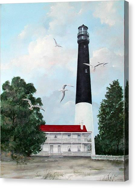 Pensacola Light House Canvas Print