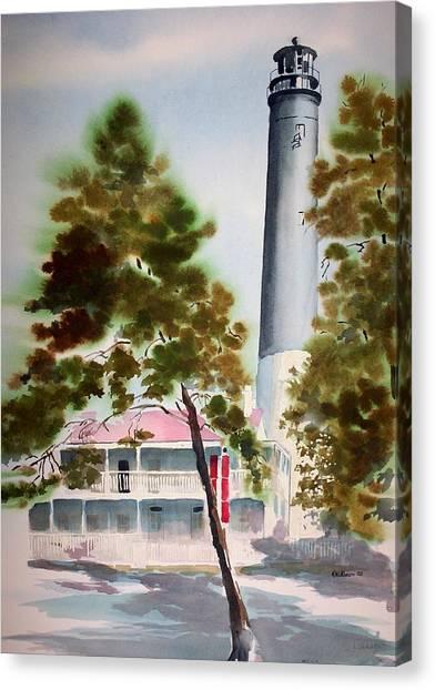 Pensacola Light Canvas Print