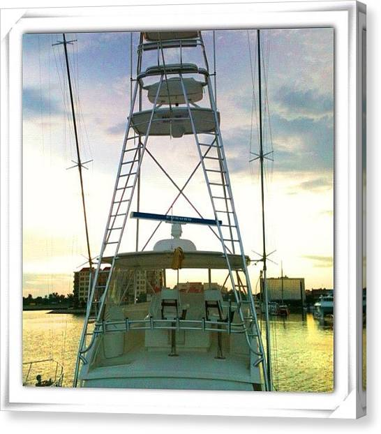 Marinas Canvas Print - #pensacola #palafoxpier #boat #marina by Kenny Richardson