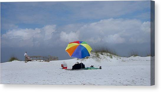 Pensacola Umbrella Canvas Print by Ed Golden